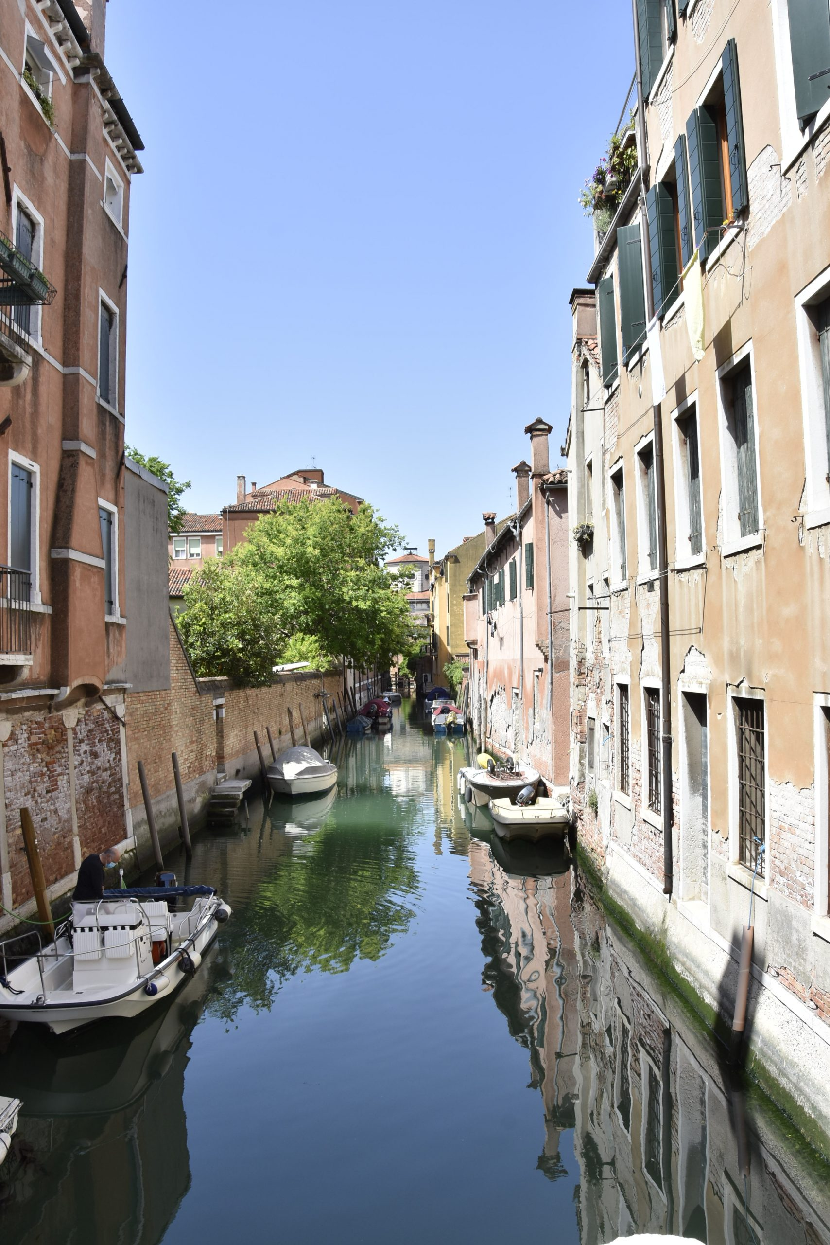 Venice canal without people
